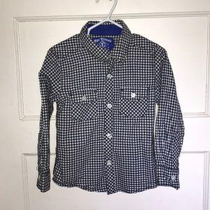 Epic Threads b&w gingham button down shirt, size 4